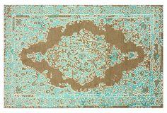 Tanner Rug, Turquoise on OneKingsLane.com
