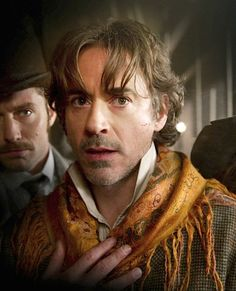 "Robert Downey Jr. as Holmes in ""Sherlock Holmes: A Game of Shadows"" (2011)."