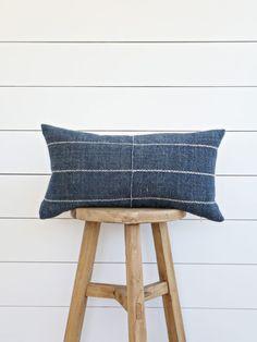 handmade pillow from vintage Karen indigo textile // the VINTAGE RUG shop Modern Cushions, Textile Texture, Handmade Pillows, Rug Shop, Home Accessories, Vintage Rugs, Indigo, Textiles, Throw Pillows