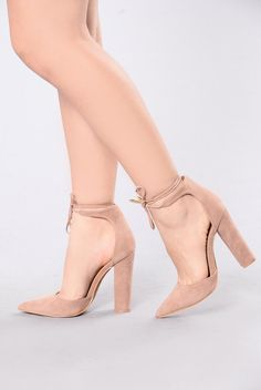 - Available in Black, Taupe, and Olive - Pointy Toe Heel - Suede - Wrap Around Lace Up - 4 1/2 Inch Heel - Chunky Heel