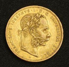 Austrian Gulden 8 Florin Gulden Gold Coin