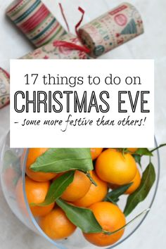 TO DO list for things to do on Christmas Eve - get things done both practical and fun so that you can enjoy the festive time