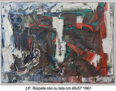 Jean-Paul Riopelle1961, Centro Steccata. Follow the biggest painting board on Pinterest: www.pinterest.com/atelierbeauvoir