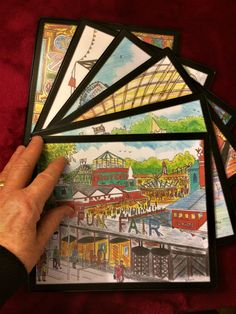 6 Fun of the Fair Place Mats 185mm x 225mm Durable by BernieShop
