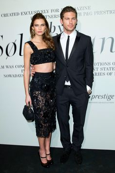 Bianca Balti and Adam Senn in Dolce&Gabbana at W Magazine and P&G's 'The Ever Changing Face of Beauty' in NYC