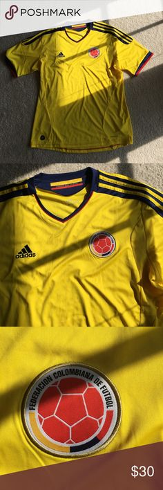 Adidas Colombia Jersey Authentic Authentic Adidas Colombia Home Jersey. Great Quality and Condition. Size Extra Large. adidas Shirts Tees - Short Sleeve
