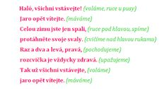 Výsledek obrázku pro básničky s pohybem Kindergarten, Crafts For Kids, Preschool, Bullet Journal, Teaching, Blog, Brunettes, Kinder Garden, Crafts For Toddlers