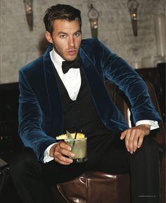 blue velvet suit!