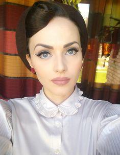 Very retro makeup #winged #eyeliner