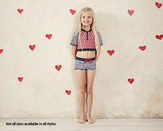 Little Girls Swimwear - Short Sleeve Crop with Boyleg - ALDI Australia