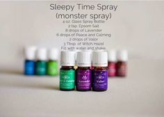 Young Living sleepy time spray, monster spray