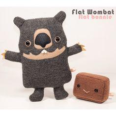 Wombat Poop plush - Square Wombat poo plushie