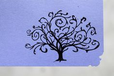 Celtic Tree of Life Purple Flat Note Cards set of 6 with Envelopes. $7.00, via Etsy.