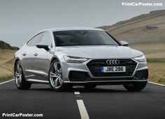 Audi A7 Sportback [UK] 2018 poster, #poster, #mousepad, #tshirt, #printcarposter
