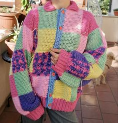 Cute Crochet, Crochet Crafts, Sewing Clothes, Crochet Clothes, Clothing Hacks, Crochet Cardigan, Knit Fashion, Cute Casual Outfits, Crochet Designs