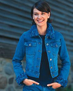 Crochet Jacket Collar And Cuffs