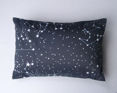 Goodnight Galaxy Pillow Sham Cover - Organic Toddler Pillow Cushion - Baby Home Decor in Dark Night Sky Blue - Eco friendly via Etsy. Galaxy Bedroom, Toddler Pillow, House Design Photos, Pillow Fight, My New Room, Pillow Shams, Cover Pillow, Boy Room, Home Decor Accessories