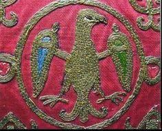 Cortona particolare del cuscino posto sotto al capo di S.Frsncesco morente 1226 d.c. ricamato dalls nobildonna Jacopa de'Settesoli