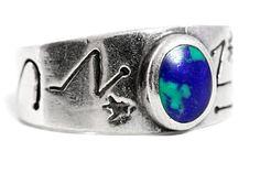 Azurite Silver Fertility Ring by Tezsahcom https://www.etsy.com/listing/479468177/azurite-silver-fertility-ring?ref=rss