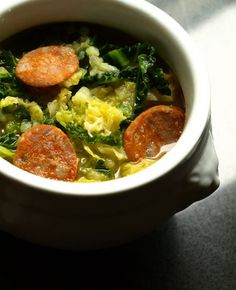 Soupe au chou façon caldo verde