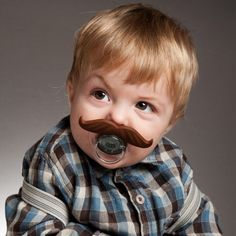 BeerMO™ Bottle Mustaches fit most Pacifiers!