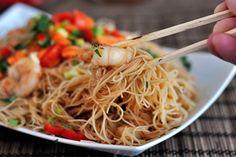 Hoisin Rice Noodles with Shrimp {Or Chicken or Pork or...}