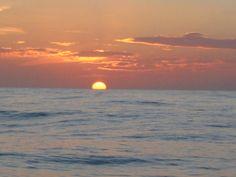 Peaceful sunset at sea