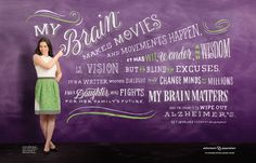 Lauren's brain makes movies  and is fighting for her family's future. #MyBrain #ENDALZ