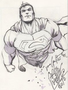 Superman sketch by Carlos Pacheco
