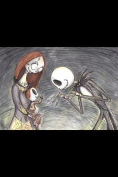 Bildergebnis für tim burton nightmare before christmas sally and jack Art Tim Burton, Tim Burton Kunst, Estilo Tim Burton, Nightmare Before Christmas, Sally Nightmare, Jack Skellington, Disney Fan Art, Disney Love, Punk Disney