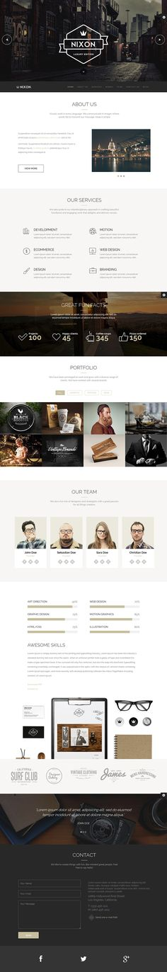 nixon is an effortlessly stunning responsive WordPress theme featuring subtle de. - nixon is an effortlessly stunning responsive WordPress theme featuring subtle design elements and many flexible elements. Web Design Trends, Design Sites, Homepage Design, Web Ui Design, Web Design Company, Design Services, Seo Services, Ecommerce, Web Responsive