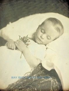 Memento mori of precious blond child.