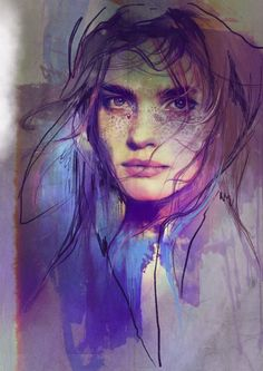 Model- Natalia Vodianova #olgadynkina #watercolor #face #portrait #women #fashion #illustrator #draw #illustration  #modeltration #girl #fashiongirl #art #painting #procreate #NataliaVodianova #model