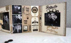 Collection Capsule de Mars pour Florilèges Design: Mini album accordéon avec un cadre en médium sur la couverture (15x15) de Scrapucine: Partie intérieure : les détails.... 25-03-2016