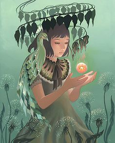 """Sneak Peek: Amy Sol's Magical New Paintings - My Modern Metropolis """"Each painting is intended to capture a moment of evocation, where the mystery of a wish and a hidden hope can remain preserved. Amy Sol, Art Nouveau, Pin Up, Lord, Modern Metropolis, Lowbrow Art, Pop Surrealism, New Shows, New Art"""