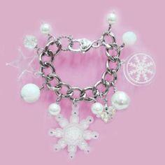 Sweet White Snow Flurry Starlight Swarovski Crystal Bracelet