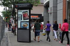 Street Column / Colonne de rue - #Montreal #StreetFurniture #OutdoorAdvertising #AffichageExterieur #AstralOutOfHome #AstralAffichage #Publicite #Ads #Billboard #PanneauAffichage