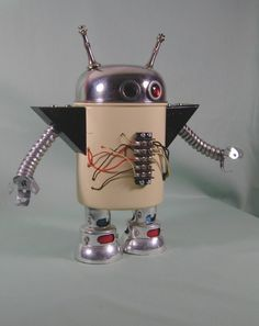 Found Object ROBOT Sculpture Turbo