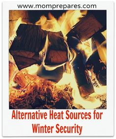 Use Alternative heat sources to keep safe in the winter!
