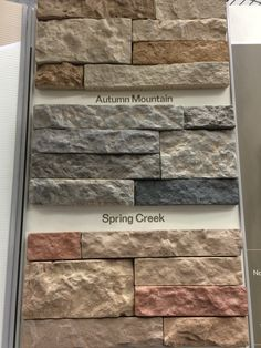 Airstone Colors Closeup - Fireplace Project at my house coming this weekend!