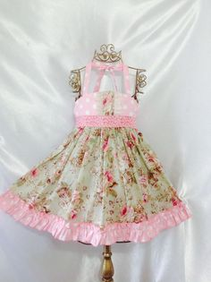 Girl Dress Size 5; Sweet Ellie Halter; Handmade; Everyday Use; 100 % Cotton #Handmade #Everyday