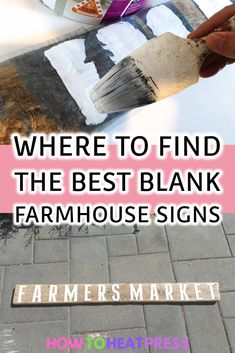 Where to find the best farmhouse blank wooden sign for all your DIY Cricut & Silhouette projects. Use vinyl or stencil vinyl. Cricut Heat Transfer Vinyl, Cricut Iron On Vinyl, Vinyl On Glass, Stencil Vinyl, Cricut Tutorials, Cricut Ideas, Crafts For Teens To Make, Vinyl Decor, Vinyl Projects