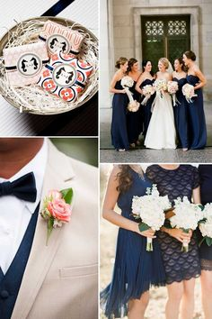 Navy blue and cream weddings...  LOOOOVE!