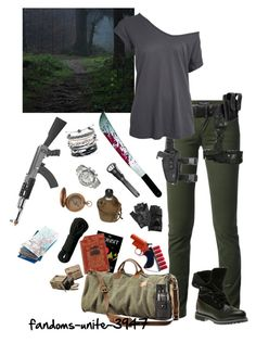 Walker Apocalypse Outfit by fandoms-unite-3947 on Polyvore featuring Dolce&Gabbana, Timberland, Domo Beads, Invicta, Carolina Amato, RIFLE, Skingraft and Edition