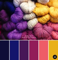 a yarn-inspired color palette