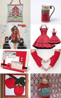 Very Cherry by Charlotte Colistro Brown on Etsy--Pinned with TreasuryPin.com