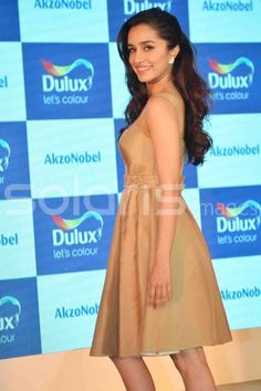 Shraddha Kapoor at Dulux paint launch 2015 Bollywood Actress Hot Photos, Bollywood Girls, Beautiful Bollywood Actress, Most Beautiful Indian Actress, Indian Bollywood, Bollywood Stars, Bollywood Fashion, Shraddha Kapoor Hot Images, Shraddha Kapoor Cute