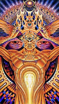 Partage of Psychedelic Experience by Alex Grey