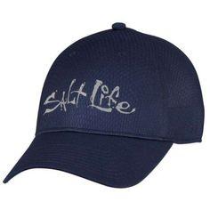 fa67cb8aa2a2f Salt Life Men s Waypoint Jacquard Honeycomb Cap (Navy Blue One Size) Salt  Life