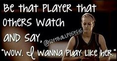 We all should strive to be that player volleyball quotes, soccer quotes, sport quotes Volleyball Quotes, Basketball Quotes, Soccer Tips, Wrestling Quotes, Basketball Tickets, Volleyball Drills, Coaching Volleyball, Volleyball Gifts, Girls Softball